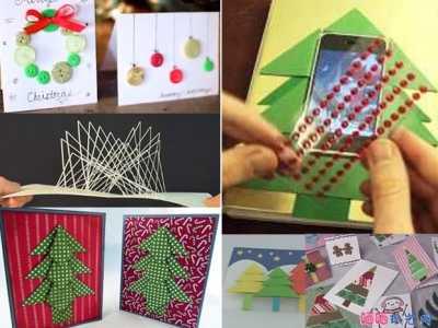 圣诞礼物制作 十款精美圣诞贺卡手工制作教程
