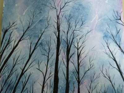 容易好看的星空水粉画 基本的画画方法介绍
