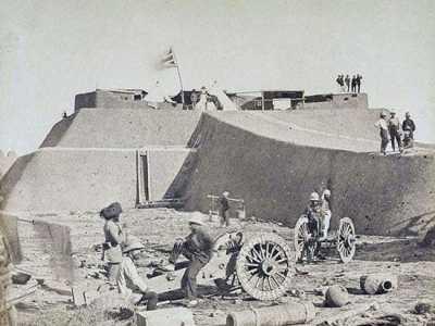 随军记者 大沽炮台炮战阵亡的清军