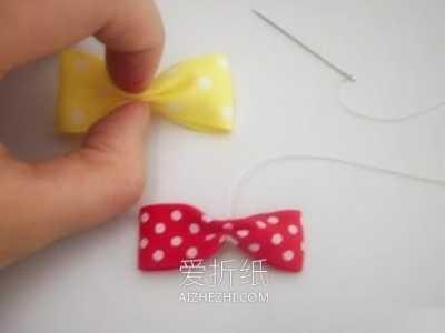 自制蝴蝶结发夹 缎带手工制作蝴蝶结发卡的方法