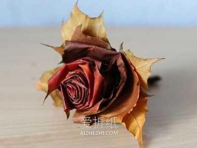 简单手工制作玫瑰花 怎么做树叶玫瑰花的简单手工制作教程