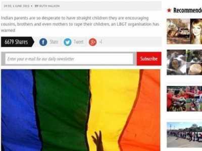 """儿子强奸母亲事 印度母亲为了""""矫治同性恋""""强奸儿子"""