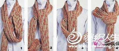 男士围巾打法 2012年最流行的男士围巾的系法图解教程