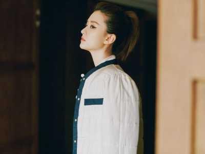 唐嫣同款裙子圖片 高挑美女喬欣外套配裙子